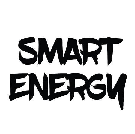 smart energy black stamp on white background. Sign, label, sticker