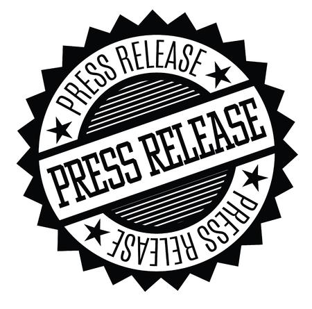 press release black stamp on white background. Sign, label, sticker
