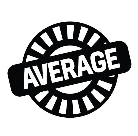 average black stamp on white background. Sign, label, sticker