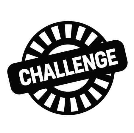 challenge black stamp on white background. Sign, label, sticker