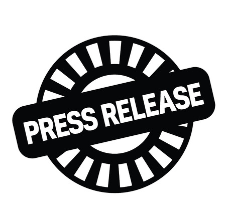 Pressemitteilung schwarzer Stempel auf weißem Hintergrund. Schild, Etikett, Aufkleber Vektorgrafik