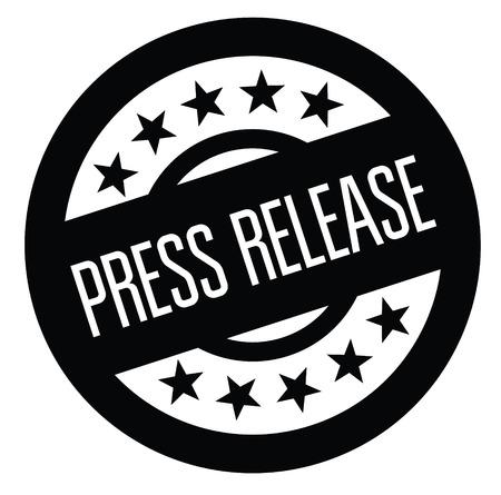 press release black stamp on white background. Sign, label, sticker Ilustración de vector