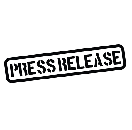 press release black stamp on white background. Sign, label, sticker