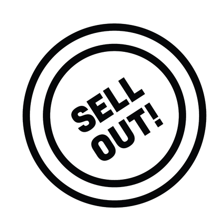 sell out black stamp on white background. Sign, label, sticker Vector Illustration