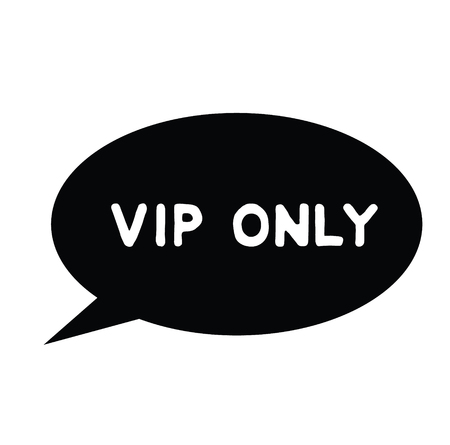 vip only black stamp on white background. Sign, label, sticker 스톡 콘텐츠 - 107540745