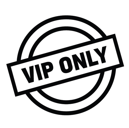 vip only black stamp on white background. Sign, label, sticker Vektorové ilustrace