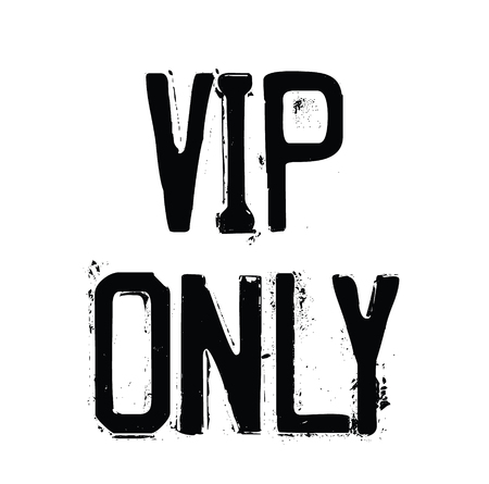 vip only stamp on white