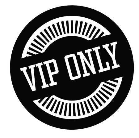 vip only black stamp on white background. Sign, label, sticker