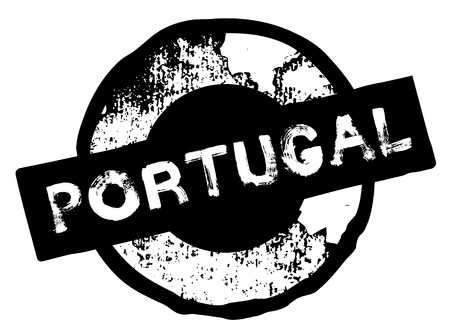 portugal stamp on white background. Sign, label, sticker.