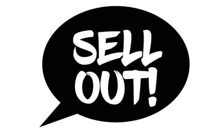 sell out stamp on white background. Sign, label, sticker.