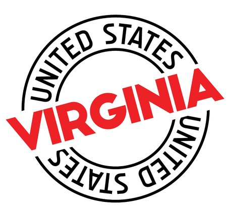 virginia stamp on white background. Sign, label, sticker.