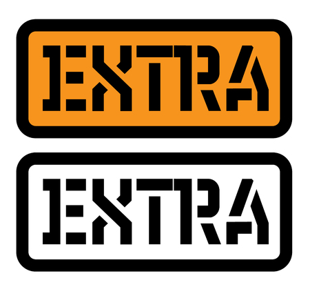 extra stamp on white background. Sign, label, sticker. Иллюстрация