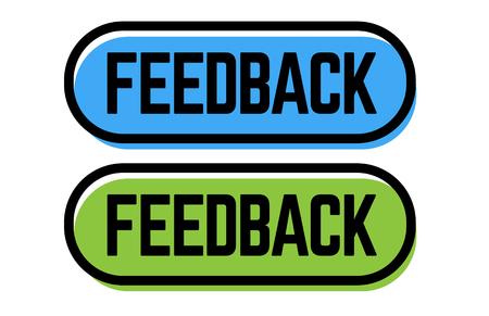 feedback stamp on white background. Sign, label, sticker. Stock Illustratie