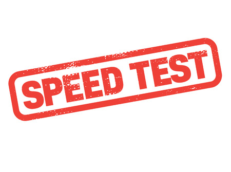 speed test stamp on white background. Sign, label, sticker. 向量圖像