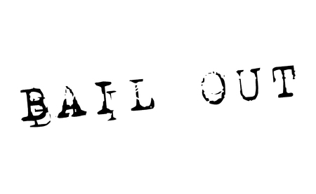 bail out stamp on white background. Sign, label, sticker.