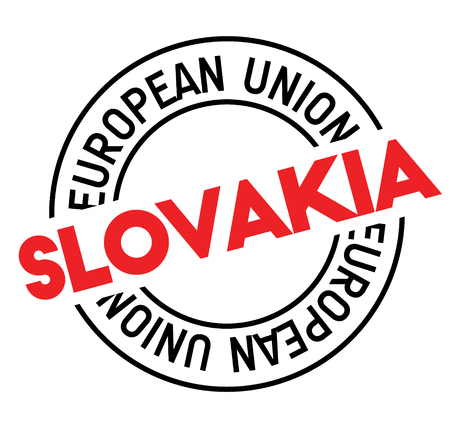 slovakia stamp on white background. Sign, label, sticker.