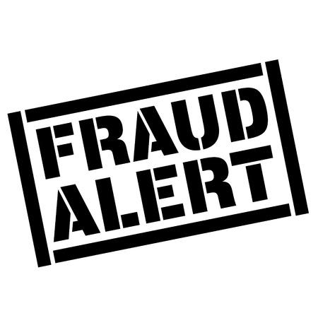 fraud alert stamp on white background. Sign, label, sticker.
