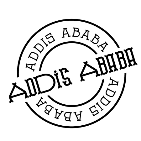 addis ababa stamp on white background. Sign, label, sticker.