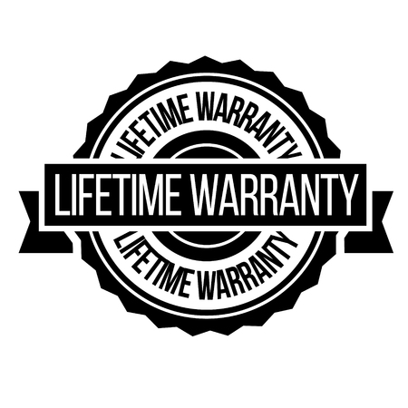 lifetime warranty stamp on white background. Sign, label, sticker.