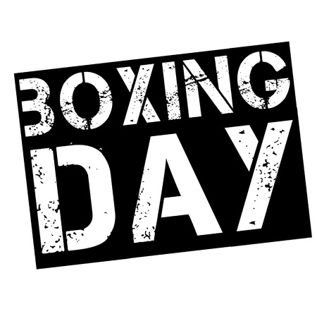 boxing day stamp on white background. Sign, label, sticker. Illustration
