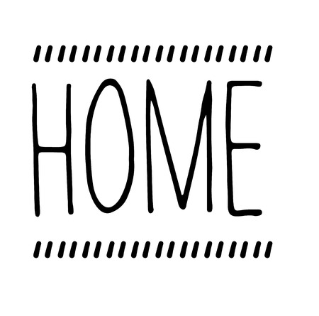 home stamp on white background. Sign, label, sticker.