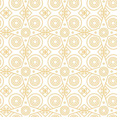 Abstract line art eastern pattern. Geometric style.