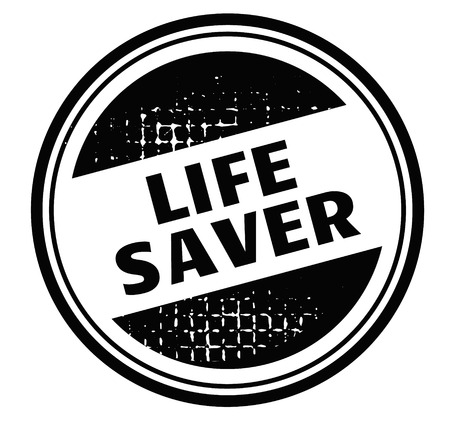 life saver advertising sticker, label, stamp on white Ilustrace