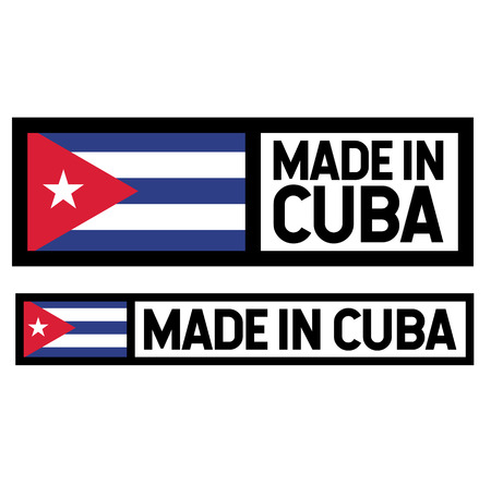 Made in Cuba product label isolated on white background.