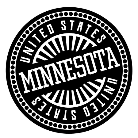 Minnesota black and white badge. Geographic series.