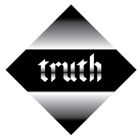 truth label on white background