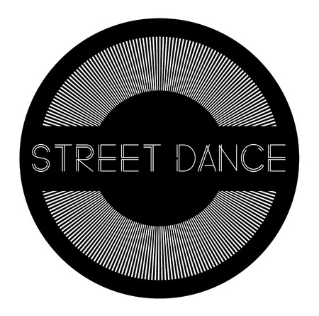 street dance label on white background