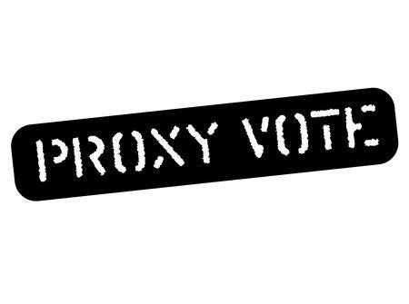 Proxy vote black stamp, sign, label. Black stencil series.