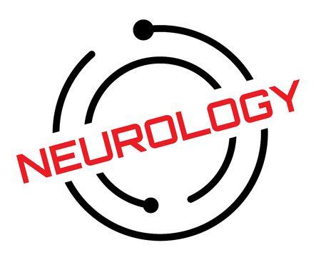 Neurology typographic label, sign. Clean modern series.