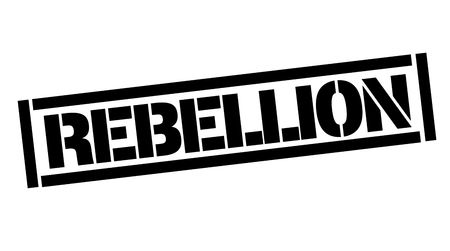 Rebellion typographic stamp, sign, label. Black and red series. Illustration