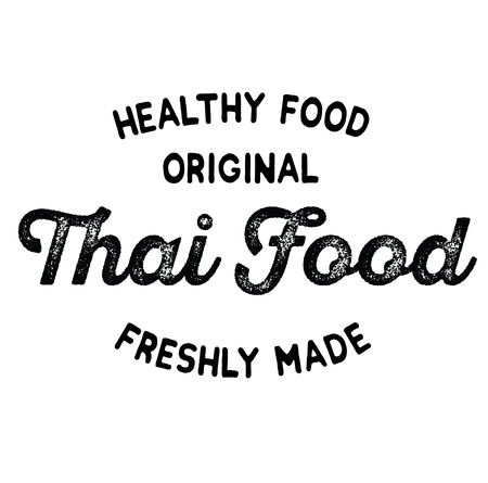 original thai food label on white background