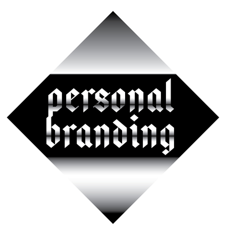 personal branding label on white background