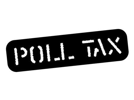Poll tax black stamp, sign, label. Black stencil series.