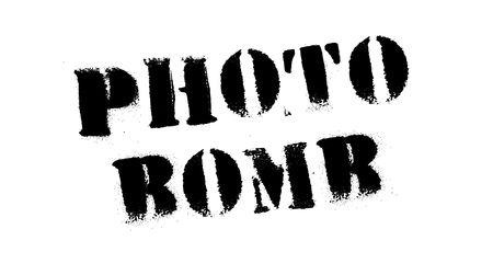 Photo bomb black stamp, sign, label. Black stencil series.