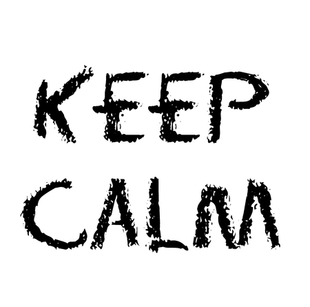 Keep Calm stamp on white background Ilustrace