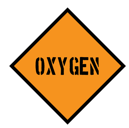 oxygen sign on white background