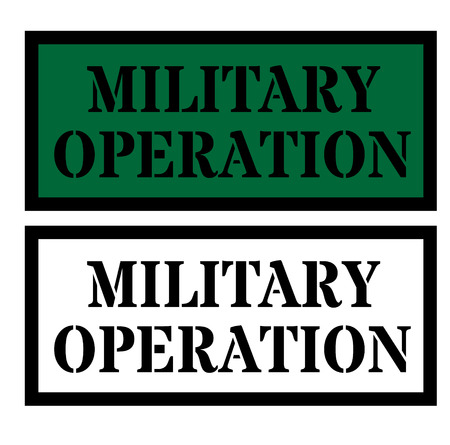 Military sign on background