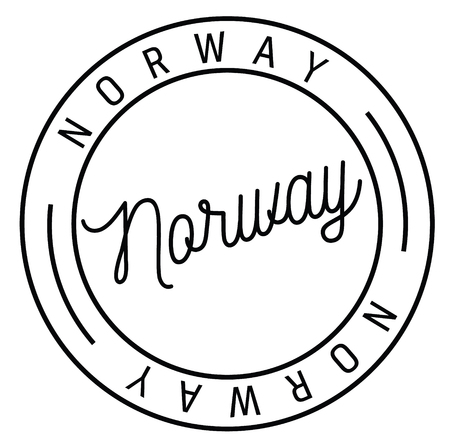 norway stamp on white background