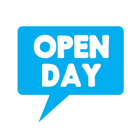 open day label on white background