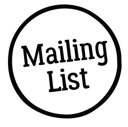 mailing list stamp on white background Ilustração