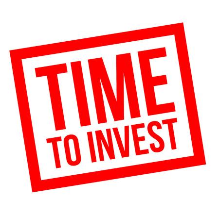 Time To Invest stamp on white background Ilustração