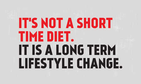 It Is Not Short Time Diet. It Is A Long Term Lifestyle Change creative motivation quote design