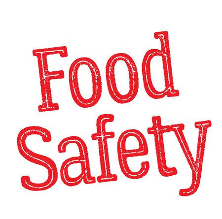 food safety stamp on white background