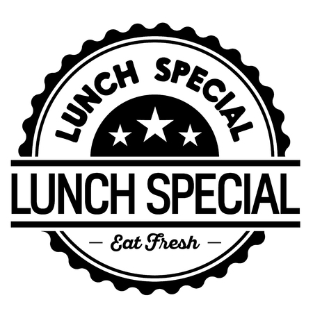 lunch special label on white background
