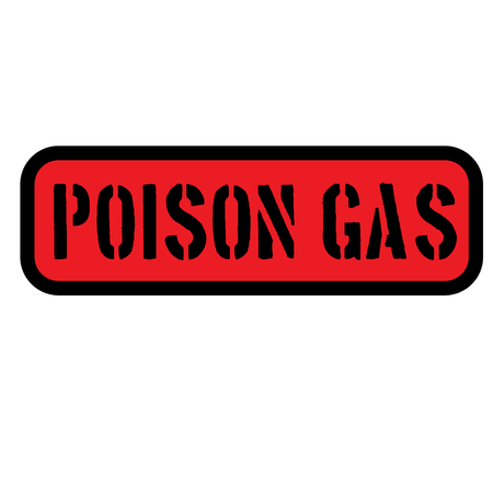 poison gas sign on white background