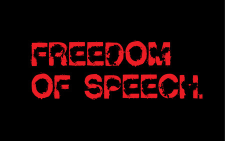 Freedom Of Speech creative motivation quote design Vectores